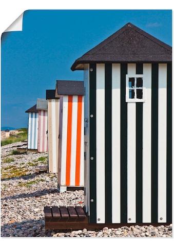 Artland Wandbild »Badehäuschen in Rageleje - Dänemark 02«, Strand, (1 St.), in vielen... kaufen