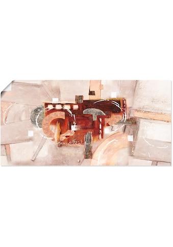 Artland Wandbild »Abstrakte Kreise«, Gegenstandslos, (1 St.), in vielen Größen &... kaufen