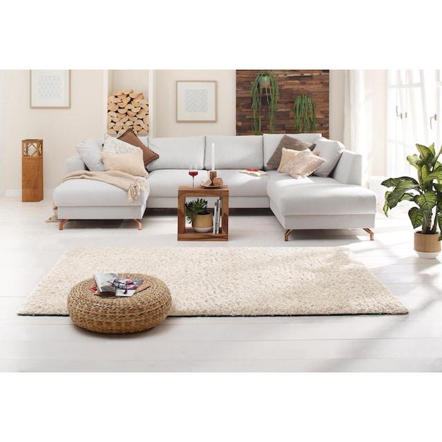 Hochflor-Teppich, »Viva«, Home affaire, rechteckig, Höhe 45 mm, maschinell gewebt