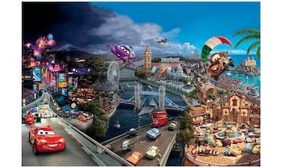 Komar Fototapete »Cars Worlde«, bedruckt-Comic, ausgezeichnet lichtbeständig kaufen