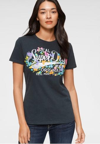 Superdry Print-Shirt »REAL ORIGINALS FLORAL TEE«, Mit floralem Vintage Logo Print kaufen