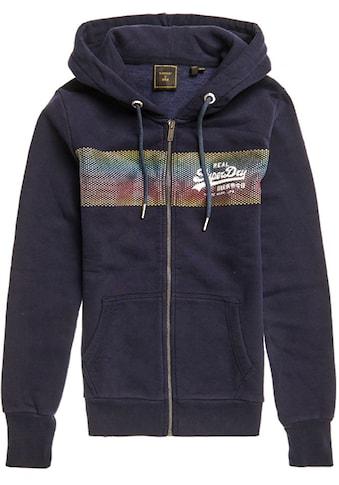 Superdry Kapuzensweatshirt »VL RETRO RAINBOW ZIPHOOD« kaufen