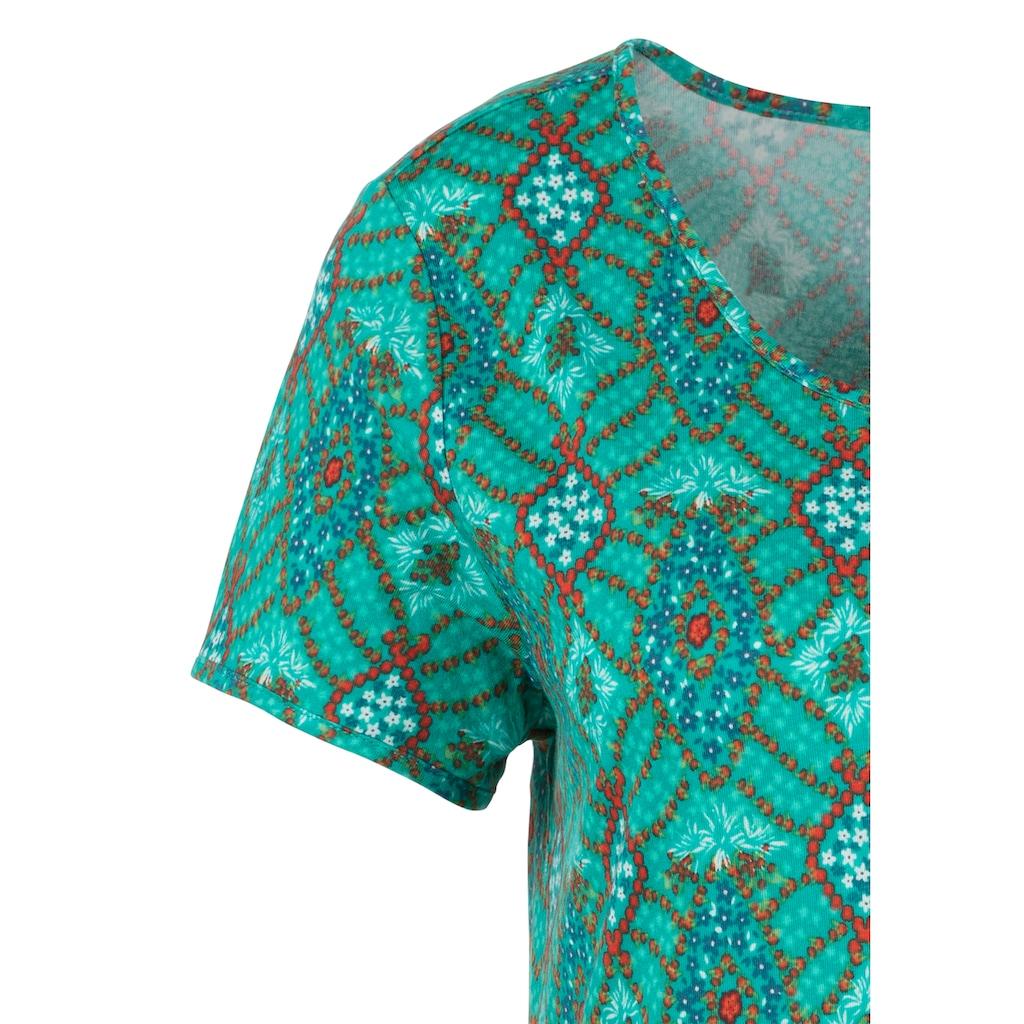 s.Oliver Bodywear Sleepshirt, im Ornamentdruck
