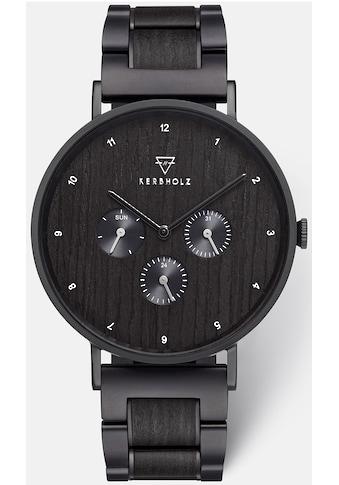 KERBHOLZ Multifunktionsuhr »Caspar Heritage Black Steel« kaufen