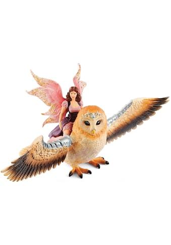 Schleich® Spielfigur »bayala, Elfe auf Glitzer-Eule (70713)« kaufen