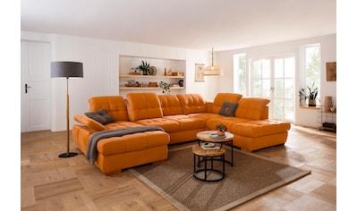 Home affaire Wohnlandschaft »Lotus Home«, incl. Sitztiefenverstellung, wahlweise mit Kopfteil- und Armlehnverstellung, Bettfunktion und Bettkasten kaufen