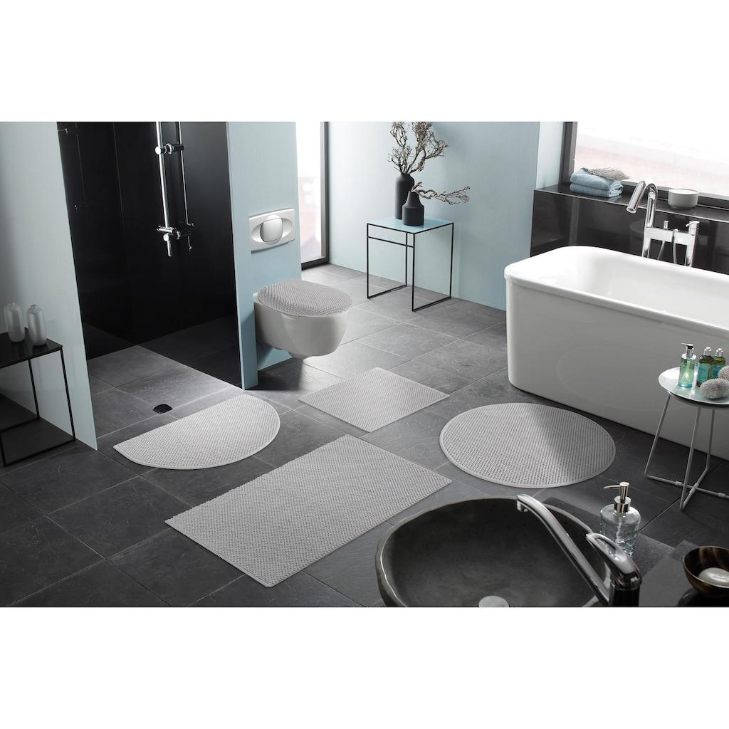my home Badematte »Lovro«, Höhe 10 mm, beidseitig nutzbar-schnell trocknend-strapazierfähig, beidseitig verwendbar