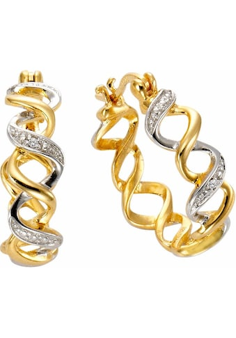 Firetti Paar Creolen, mit Diamanten kaufen