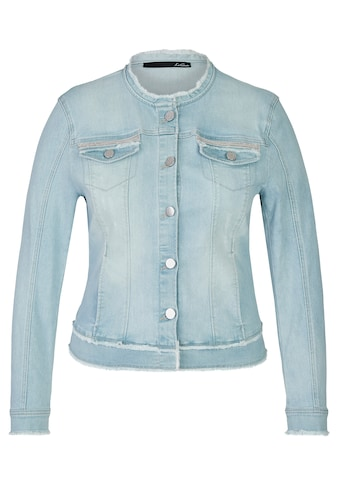 LeComte Jeansjacke, mit Fransen und Glitzerdetails kaufen