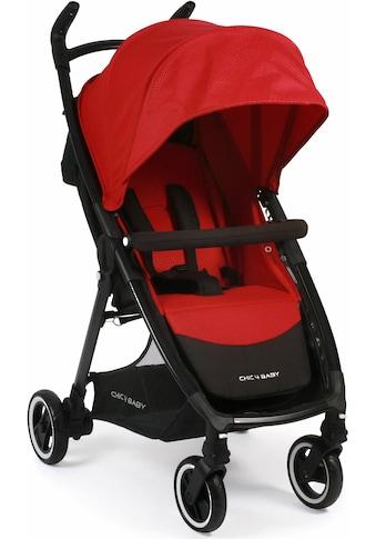 CHIC4BABY Sport-Kinderwagen »Robbie, rot«, mit schwenk- und feststellbaren Vorderrädern kaufen