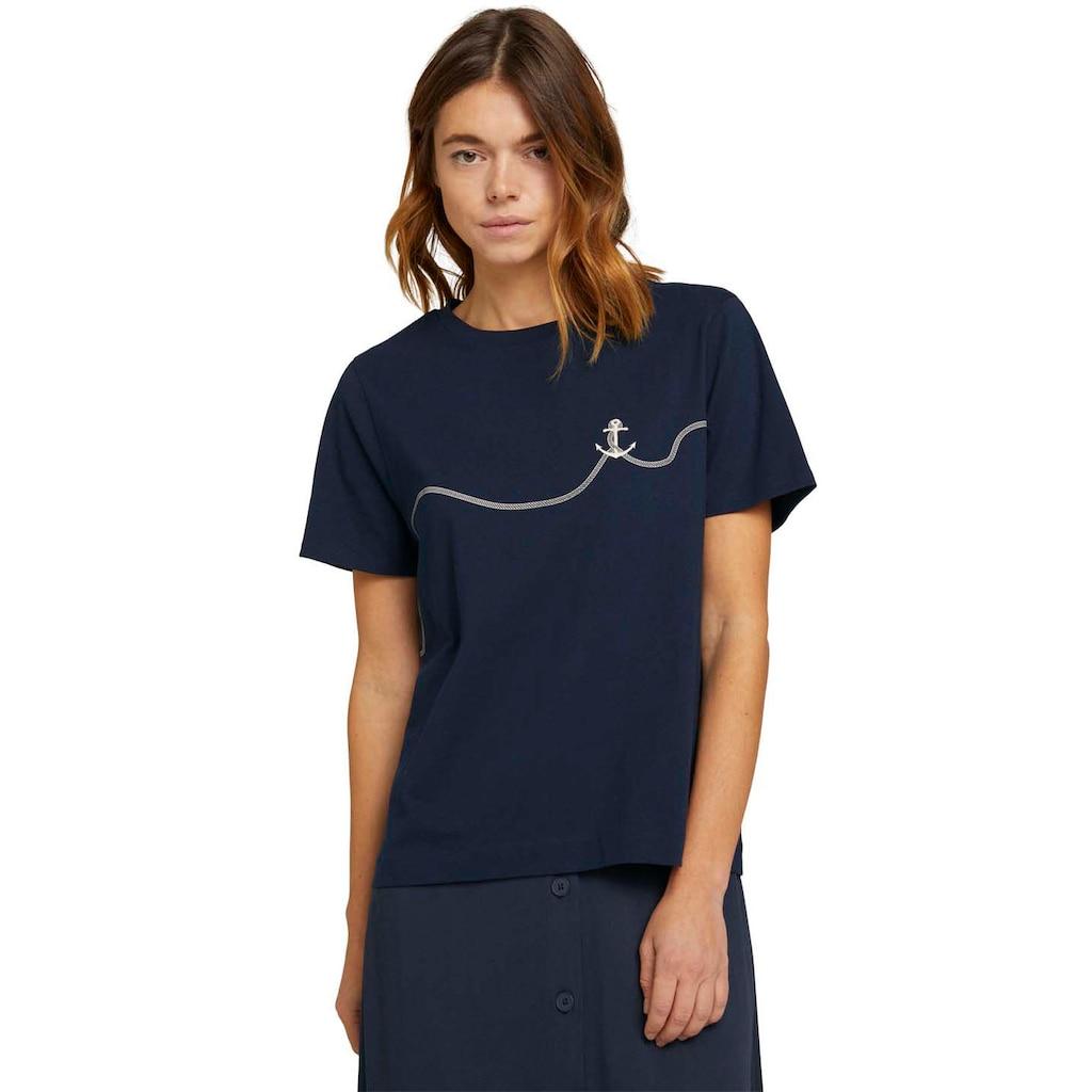 TOM TAILOR Denim T-Shirt, mit Anker-Print