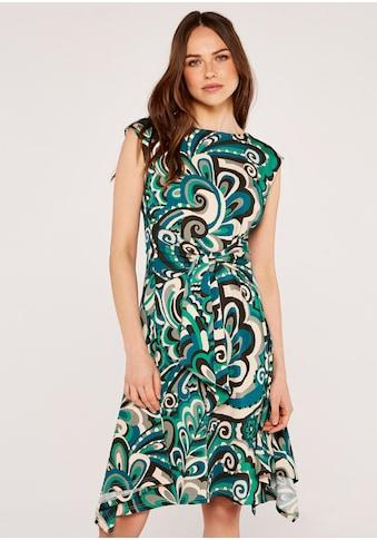 Apricot Druckkleid »Psychedelic Swirl Dress«, (mit Bindegürtel), mit Zipfel-Saum kaufen