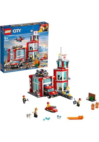"""LEGO® Konstruktionsspielsteine """"Feuerwehr - Station (60215), LEGO® City"""", Kunststoff, (509 - tlg.) kaufen"""