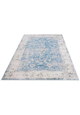 DELAVITA Teppich »Hanako«, rechteckig, 6 mm Höhe, Druckteppich mit Bordüre, Wohnzimmer kaufen