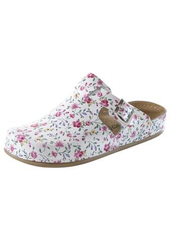 Clog Blumenwiese mit Lederfußbett kaufen