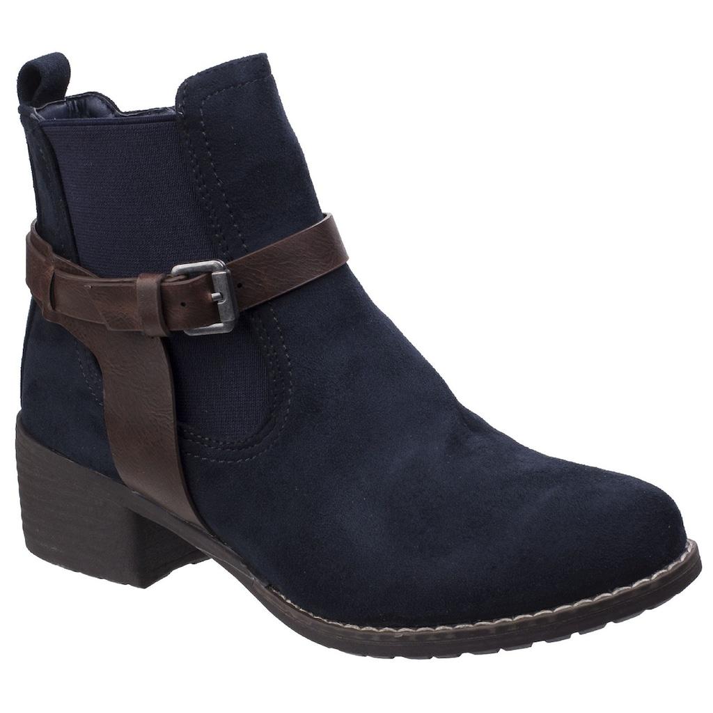 Divaz Ankleboots »Womens/Damen Ivana Block Heel Stiefel«