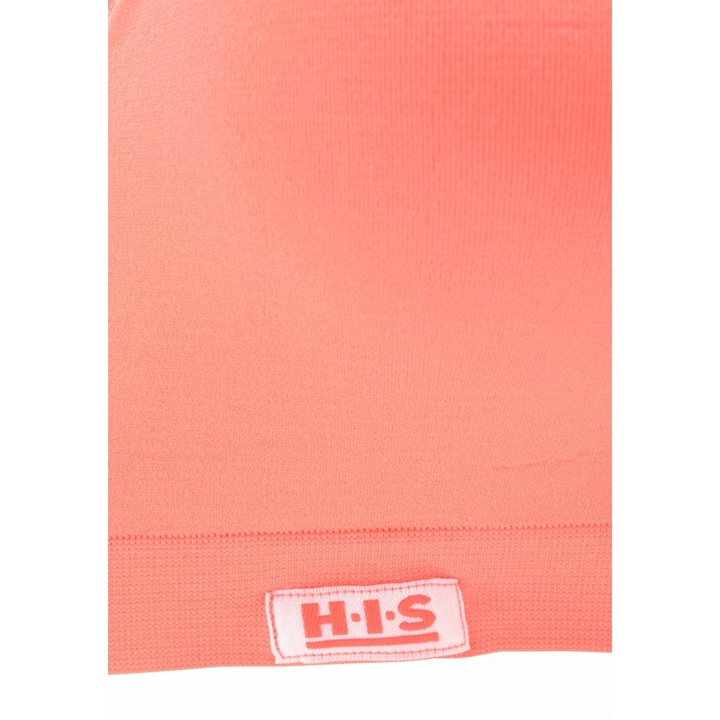 H.I.S Sport-BH, mit eingearbeiteten Push-up-Kissen, geeignet für Sportarten mit leichter Belastbarkeit
