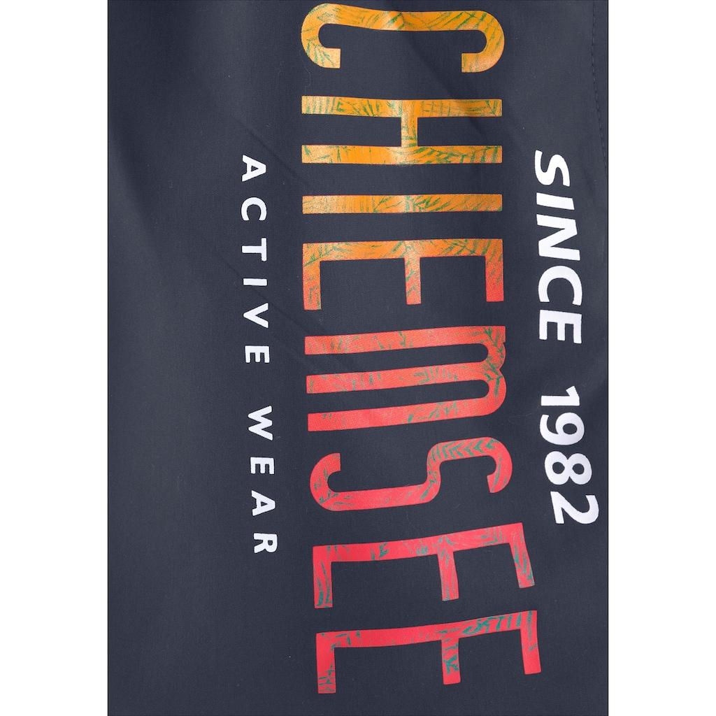 Chiemsee Badeshorts, mit kontrastfarbenem Bund