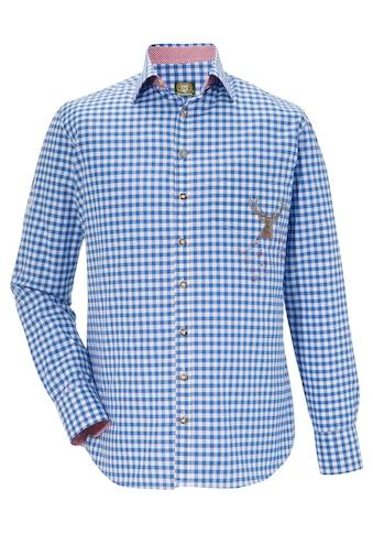 OS - Trachten Trachtenhemd mit Schriftzug am Rücken kaufen