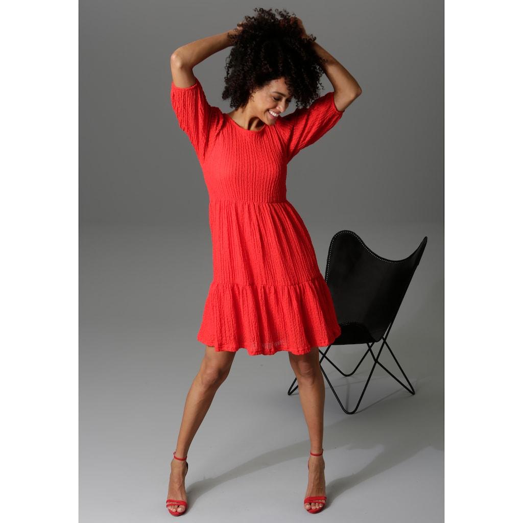 Aniston CASUAL Sommerkleid, aus strukturiertem Jersey - NEUE KOLLEKTION