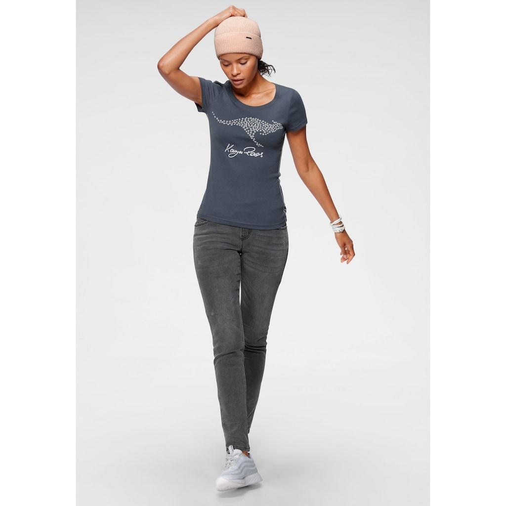 KangaROOS T-Shirt, mit großem Label-Druck