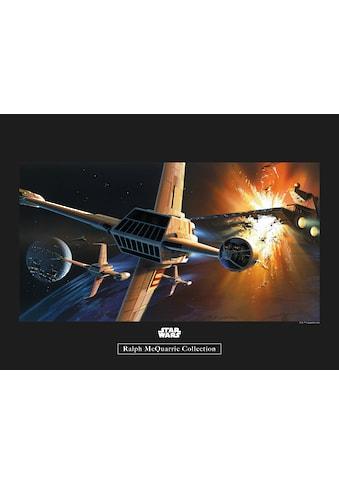 Komar Poster »Star Wars Classic RMQ Endor Orbit War«, Star Wars kaufen