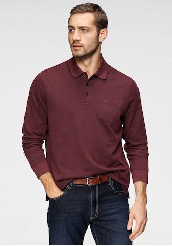 bugatti Langarm-Poloshirt, in feiner Piqué- Qualität kaufen
