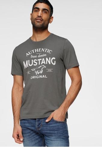 MUSTANG T-Shirt, mit großem Logofrontprint kaufen
