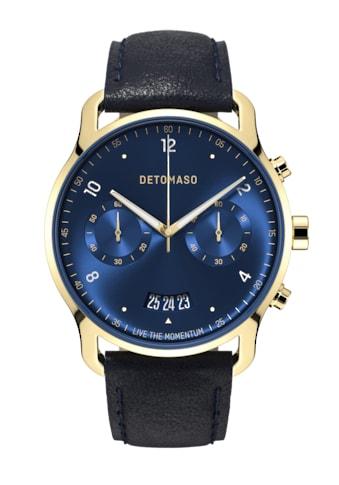 DETOMASO Chronograph »SORPASSO QUARZUHR LIMITED EDITION GOLD BLUE« kaufen