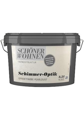 SCHÖNER WOHNEN FARBE Spezialfarbe »Schimmer - Optik Effektfarbe pearldust«, glänzend 2,5 l kaufen