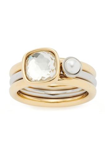 LEONARDO Ring-Set »Cuscino, 021619, 021620, 021621«, (Set, 2 tlg.), mit Kristallglas -... kaufen