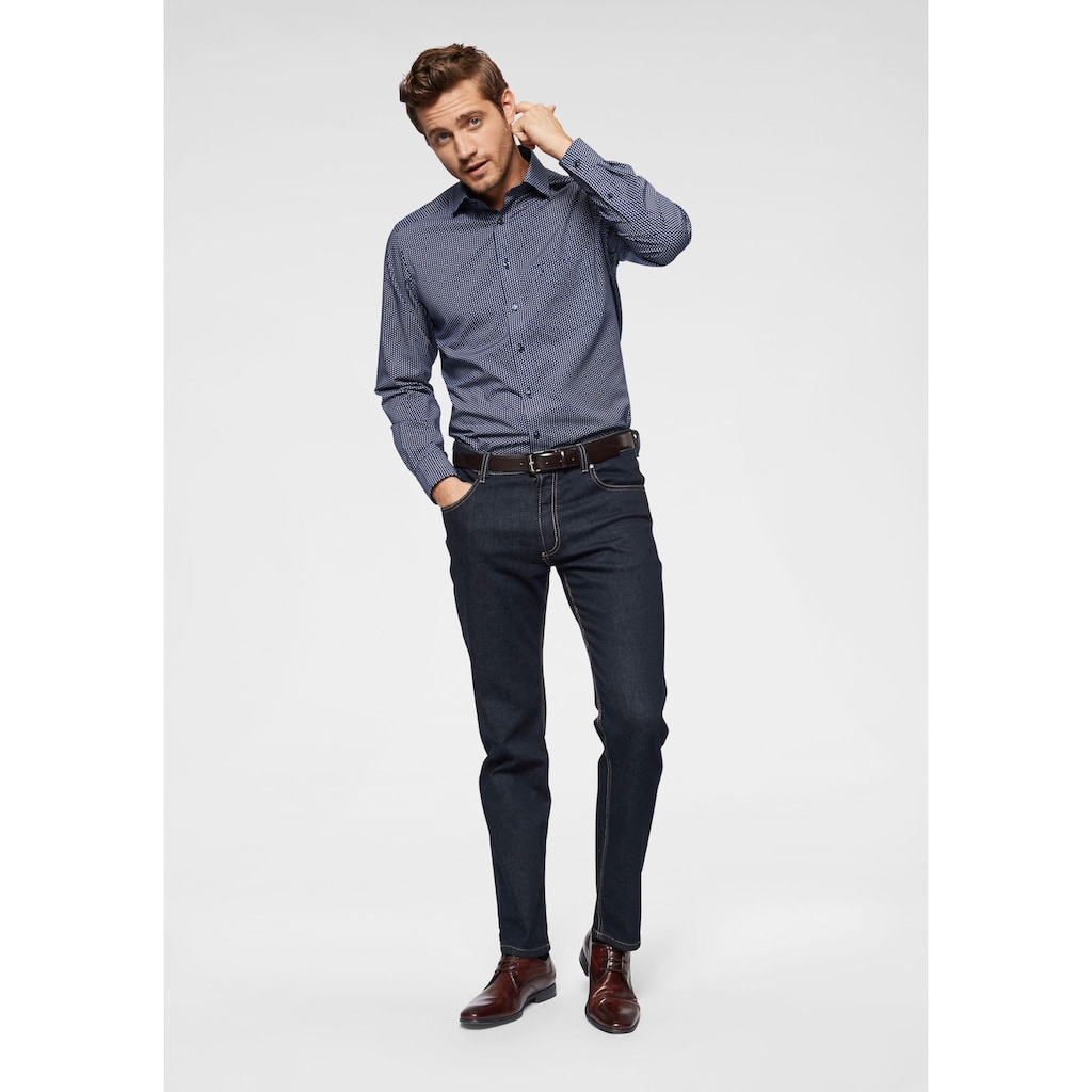 bugatti Regular-fit-Jeans, Regular-fit, 2farbige Kontrastnähte