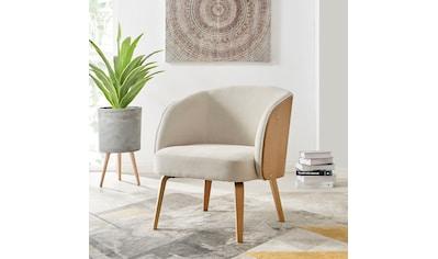 andas Sessel »Alzey«, mit Beinen aus Bugholz und einem pflegeleichten Strukturstoff, Sitzhöhe 46 cm, Cocktailsessel kaufen