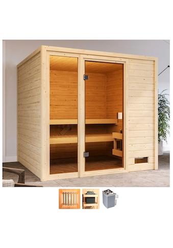 Karibu Sauna »Jackie«, 9-kW-Ofen mit int. Steuerung kaufen