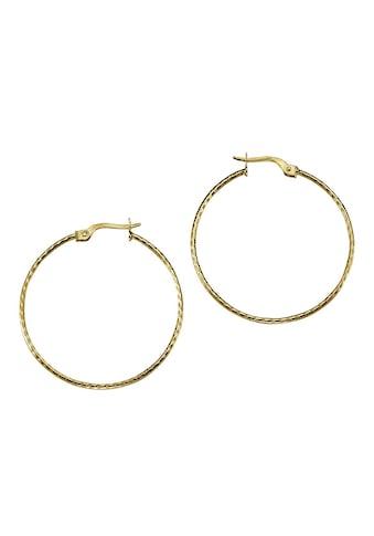 Vivance Creolen »375/ -  Gold diamantiert 3,4cm« kaufen