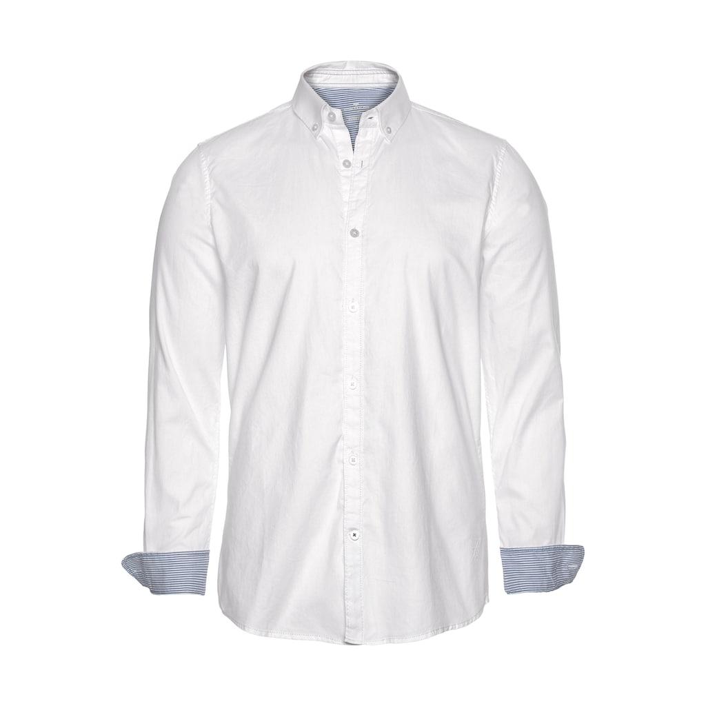 TOM TAILOR Langarmhemd, mit Button-down-Kragen