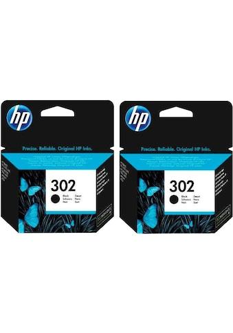 HP Tintenpatrone »hp 302, original, F6U66AE, schwarz«, (Set, 2 St., Doppelpack) kaufen