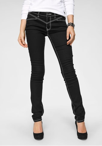 Arizona Slim-fit-Jeans »Shaping mit Kontrastnähten«, Mid Waist kaufen