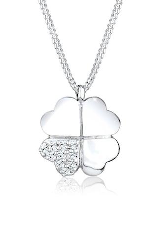 Elli Collierkettchen »Kleeblatt Clover Swarovski® Kristalle 925 Silber« kaufen