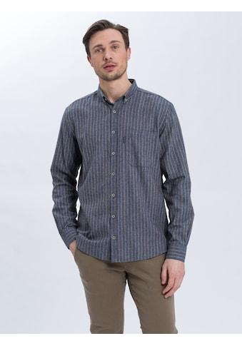 Cross Jeans® Langarmhemd »35388«, Legeres Hemd mit Streifen kaufen