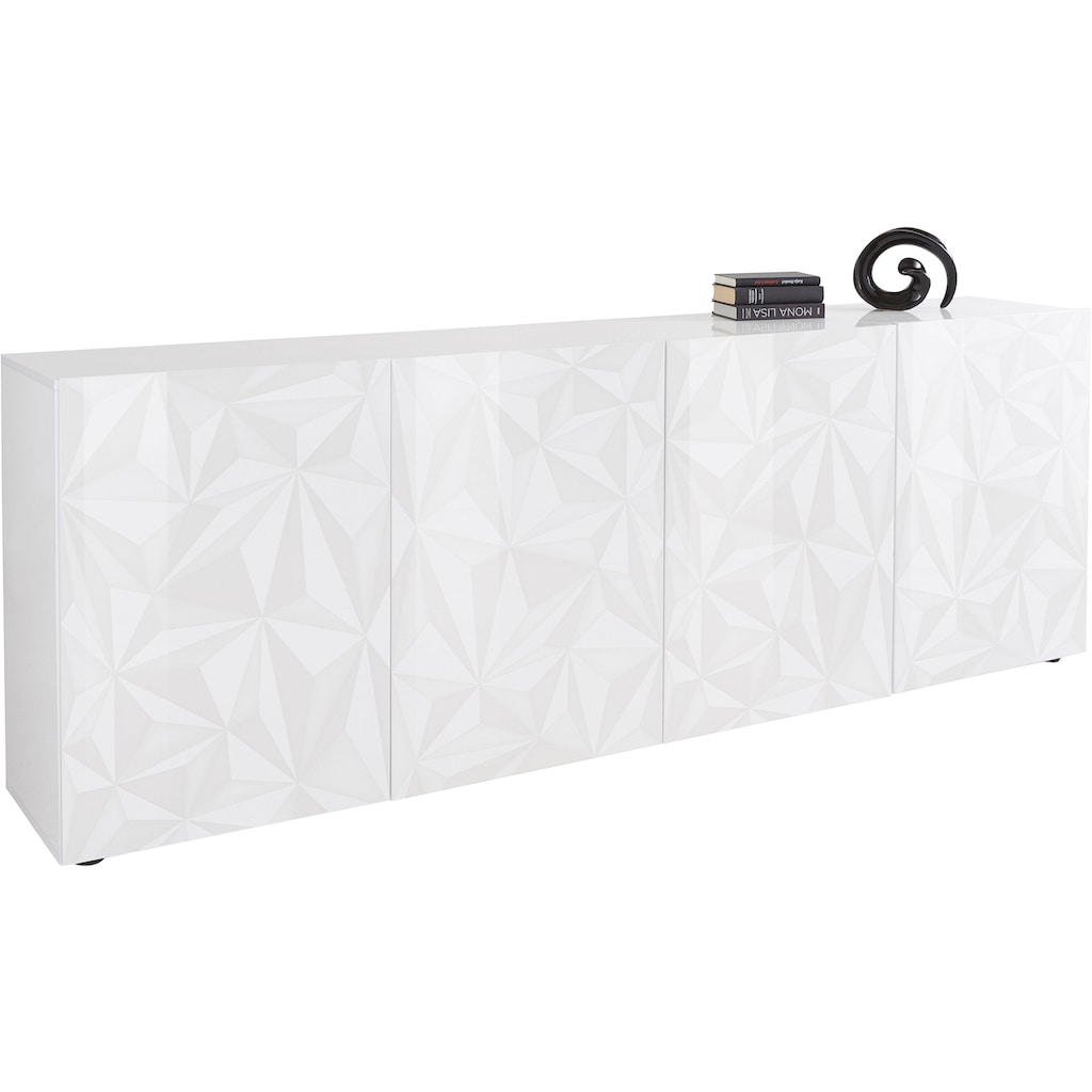 LC Sideboard »Prisma«, Breite 241 cm, 4-türig