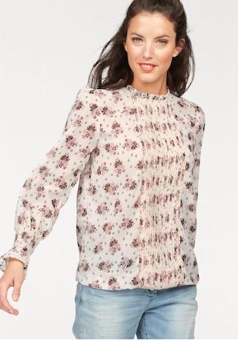 Aniston CASUAL Schlupfbluse, mit Rüschen am Halsausschnitt kaufen