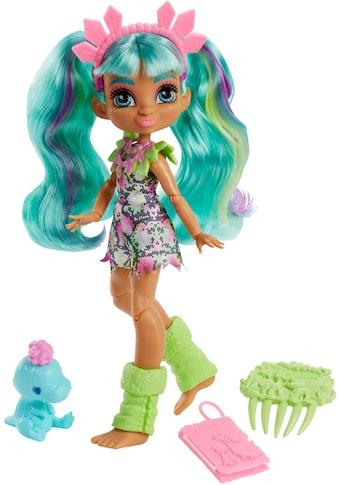 Mattel® Anziehpuppe »Cave Club, Rockelle«, prähistorische Modepuppe mit Haus-Dinosaurier kaufen