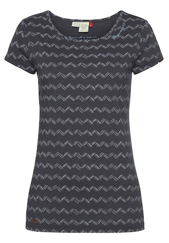 Ragwear T-Shirt »MINT ZIG ZAG«, mit kontrastigem Zig-Zag-Allover-Muster kaufen