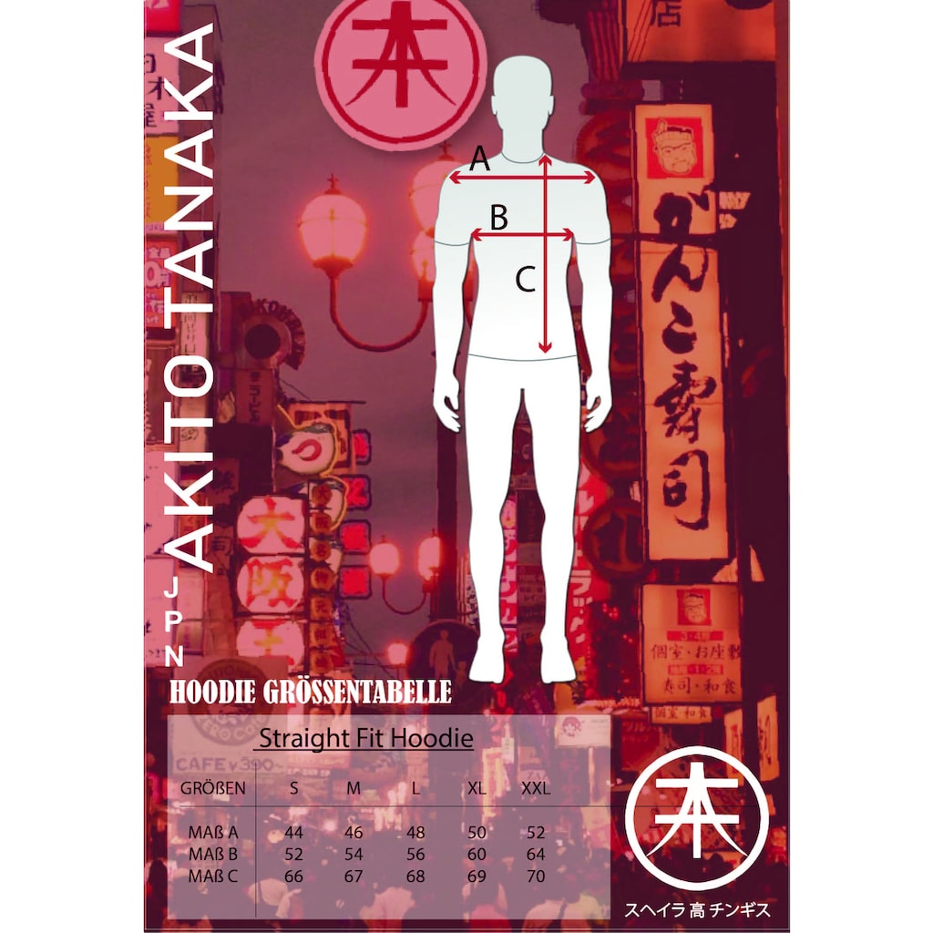 Akito Tanaka Kapuzenpullover »Vertical Side«, mit Stickerei am Ärmel und auf dem Untertritt