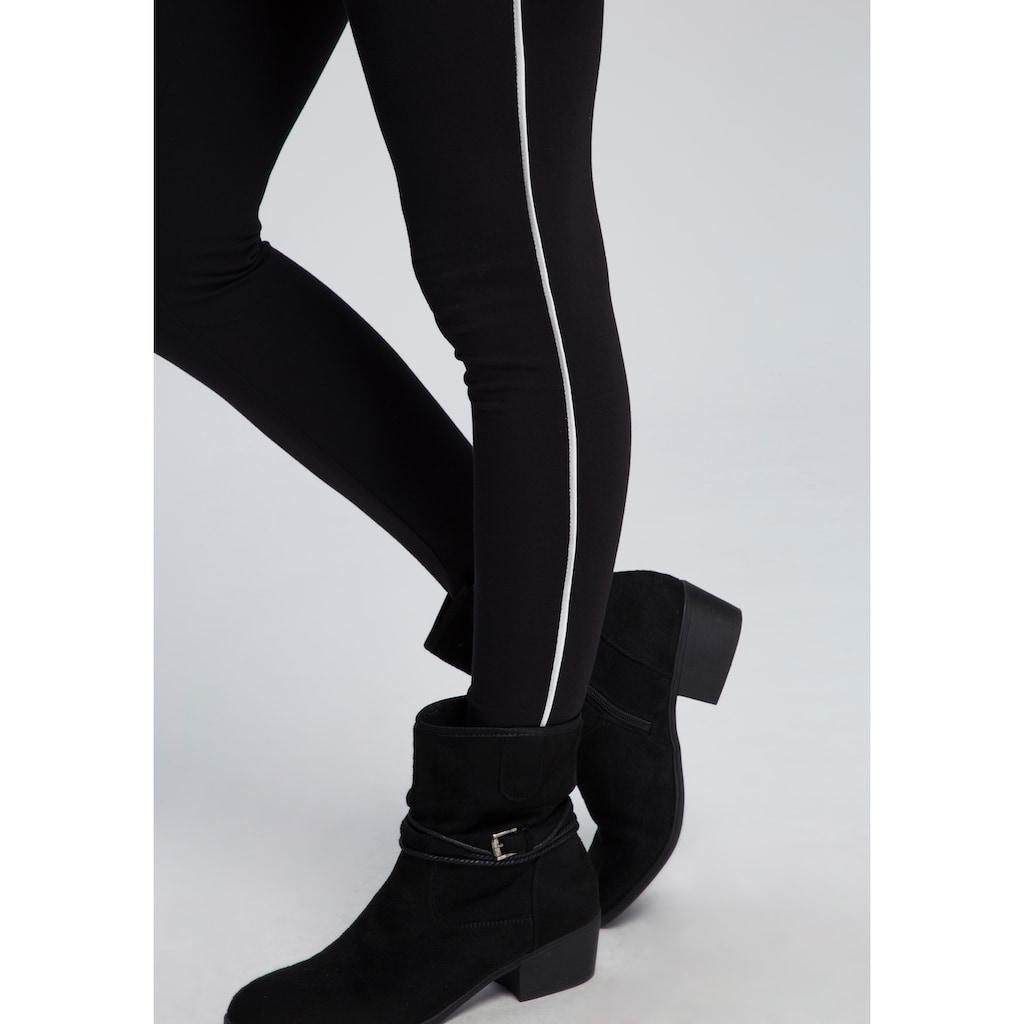 Boysen's Leggings, (Packung, 2er-Pack), Packung mit trendiger Seitennaht und aus nachhaltigem Baumwoll-Mischgewebe