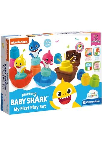 Clementoni® Spielbausteine »Soft Clemmy - Baby Shark Spiel-Set«, (14 St.) kaufen