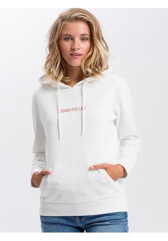 Cross Jeans® Hoodie »65220«, Hoodie mit plakativem Labelprint kaufen