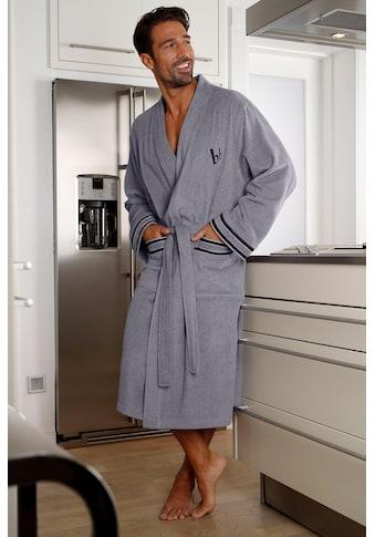 Bruno Banani Herrenbademantel »Roy«, mit farblich abgesetzten Streifen kaufen
