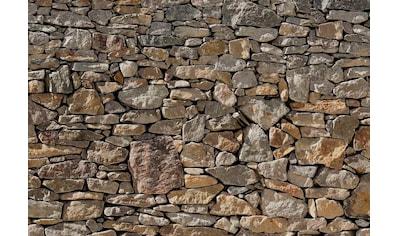 Komar Fototapete »Stone Wal«, bedruckt-Steinoptik-Steinoptik, ausgezeichnet... kaufen
